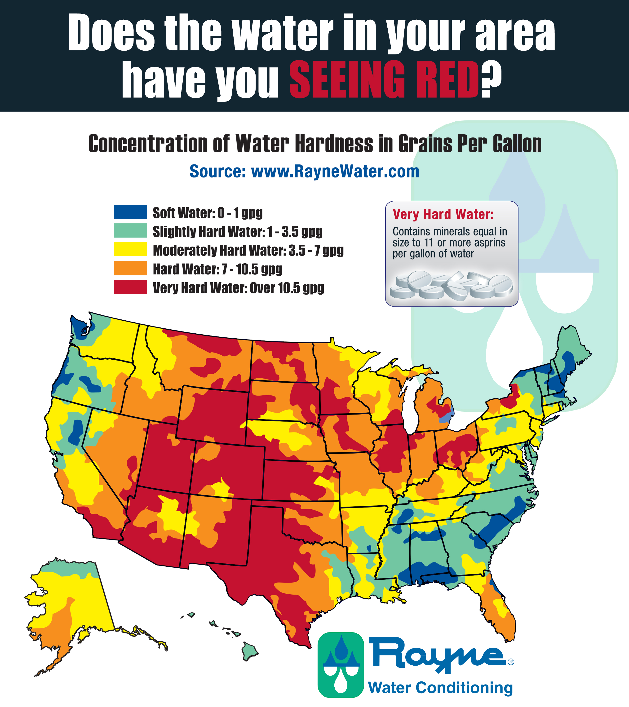 The Benefits Of A Water Softener Water Spots Blog - Map of water quality in us